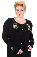 Load image into Gallery viewer, Frankenstein and Bride Rockabilly Gothic Cardigan - PLUS SIZE