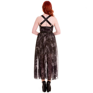 Altaira gothic witch steampunk maxi dress