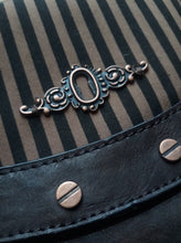 Load image into Gallery viewer, Steampunk Gothic stripe handbag