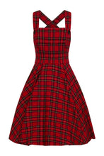Load image into Gallery viewer, Irvine Tartan pinup punk rockabilly Pinafore Dress