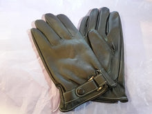 Load image into Gallery viewer, Gothic, steampunk Men's/unisex buckle full finger gloves