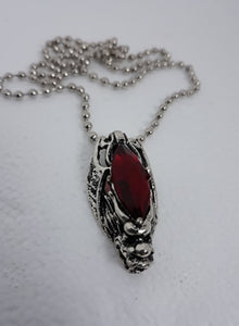 Red gem dragon head necklace
