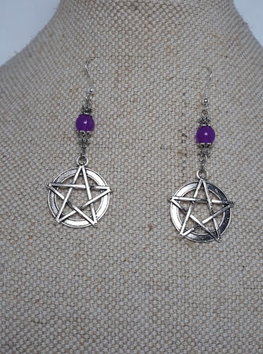 Pentagram bead Earrings
