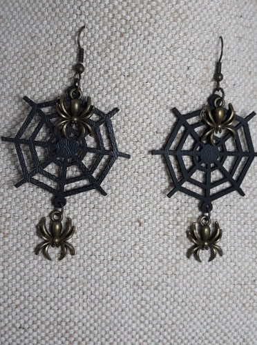 Spiderweb steampunk Earrings
