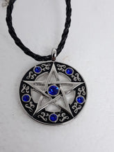 Load image into Gallery viewer, Pentagram and gem necklace