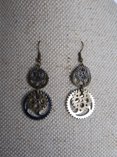 Steampunk cogs Earrings