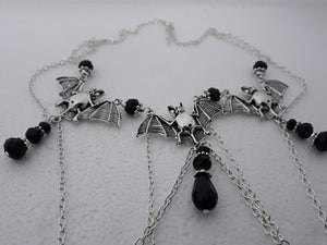 Bat droplet necklace