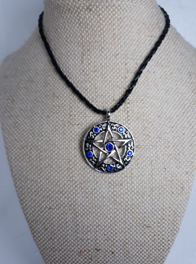 Pentagram and gem necklace