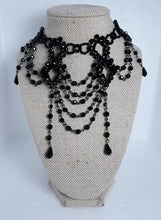 Load image into Gallery viewer, Beaded Victorian Gothic choker set