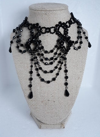 Beaded Victorian Gothic choker set