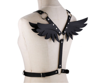 Load image into Gallery viewer, Kawaii Layered Angel Wing Cosplay Harness