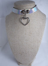 Load image into Gallery viewer, Holographic dangle heart charm kawaii collar choker