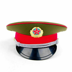 Chinese Military Hat - fetish gothic steampunk festival military captain officers cap