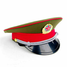 Load image into Gallery viewer, Chinese Military Hat - fetish gothic steampunk festival military captain officers cap