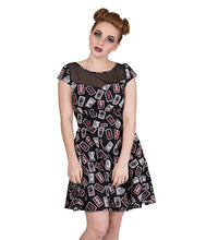 Load image into Gallery viewer, Tarot card gothic witchy print mini dress