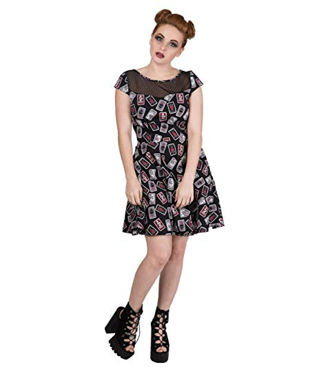 Tarot card gothic witchy print mini dress