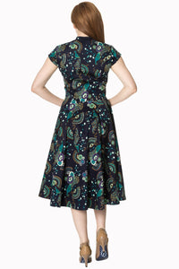 Proud peacock retro pinup vintage style rockabilly dress