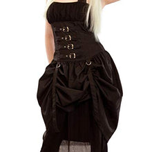 Load image into Gallery viewer, Corset Buckle gothic bustle 'Dry' Dress LAST ONE - size S