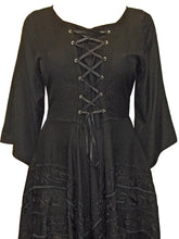 Load image into Gallery viewer, Dark Angel Gothic Lace Up Embroidered fantasy Dress - plus size 22-24