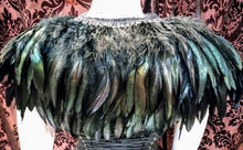 Load image into Gallery viewer, Feather collar shawl gorgeous statement feather cape collar shoulder neckpiece - Black