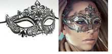 Load image into Gallery viewer, Metal filigree elegant gothic masquerade mask - Fleur