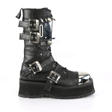 Load image into Gallery viewer, Gravedigger 250 - Spiked chrome steel cap mid-calf platform boot PRE ORDER