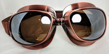 Load image into Gallery viewer, Goggles Aviator Moto Steampunk Cyber Metallic Finish - copper, chrome, coloured lens, opaque lens