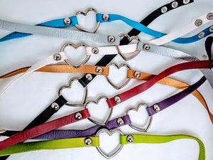 Heart Collar Pastel Goth Kawaii Choker - Thin Strap