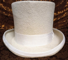 Load image into Gallery viewer, Classic Top Hat - gothic steampunk formal standard victorian Top Hat - White