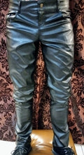 Load image into Gallery viewer, Leather look PVC pants zipper fly trousers Unisex