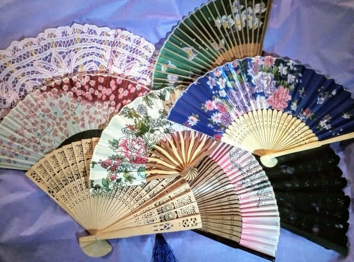 Japanese Victorian Fans - Multiple Styles/Colours