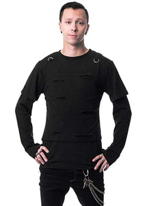 Black Junction long sleeve gothic Top