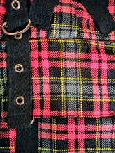 Load image into Gallery viewer, Punk studded dark red tartan metal gothic plaid kilt - mens / unisex