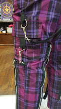 Load image into Gallery viewer, Unisex Tartan Bondage Punk Zipper Trousers - Red, White, Purple, Pink, Red/White, Dark Red.