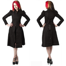 Load image into Gallery viewer, Minerva gothic corset back flared coat