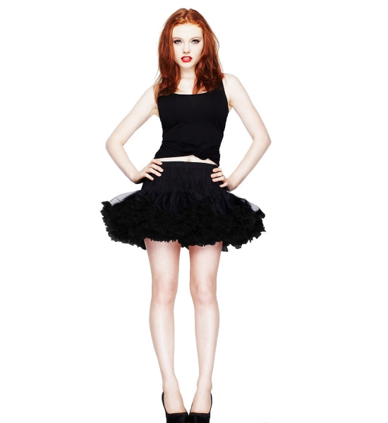 Petticoat Tutu mini length black