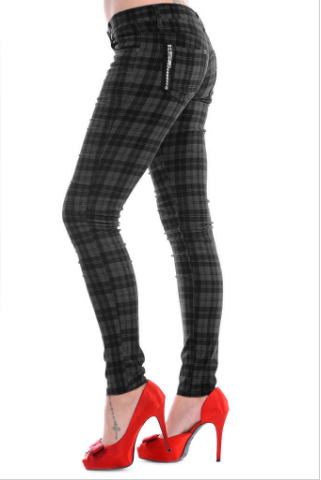 Tartan skinny jeans - Unisex - available in multiple colours
