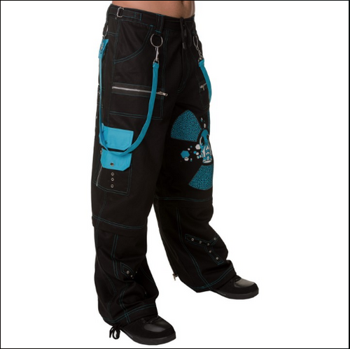 Cyber gothic rave Gas Mask Pants - men's / unisex