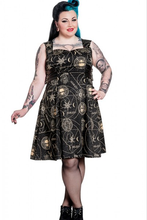 Load image into Gallery viewer, Tabitha Gothic occult print buckle Plus size dress - 3XL LAST ONE