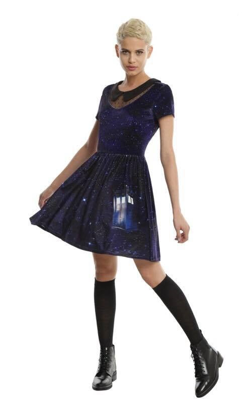 Tardis Galaxy Collar Velvet Dress LIMITED EDITION