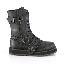 Load image into Gallery viewer, Valor 220 - Gothic eyelet boots Small platform strap buckle mid-calf boot