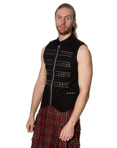Studded Military style cyberpunk gothic vest top