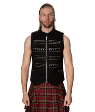 Load image into Gallery viewer, Studded Military style cyberpunk gothic vest top
