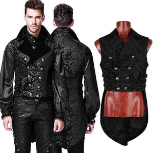 Mens Gothic Steampunk Waistcoat with Tails.