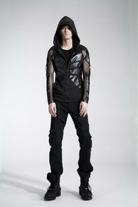 Cyber armour mesh visual kei hoodie top