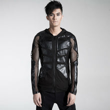 Load image into Gallery viewer, Cyber armour mesh visual kei hoodie top
