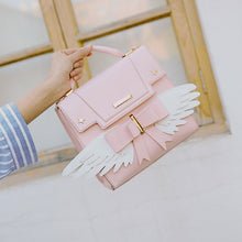 Load image into Gallery viewer, Pink Sakura magical sweetie satchel bag with angel wings