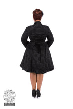 Load image into Gallery viewer, Andromeda Gothic flared brocade coat - Plus Size