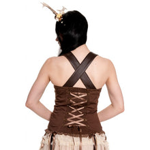 Load image into Gallery viewer, Aurora steampunk pixie brown strappy top