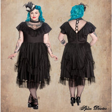 Load image into Gallery viewer, Gothic mesh Augustine dress - PLUS SIZE